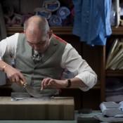 Shirt maker Robert Whittaker at Dege & Skinner.