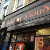 Store front at One Of A Kind in London. Photo by alphacityguides.