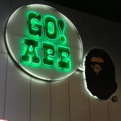 Sign at A Bathing Ape in Tokyo. Photo by alphacityguides.