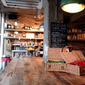 Pantry area at Pizza East in London. Photo by alphacityguides.