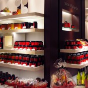 Chocolate display at Isetan.