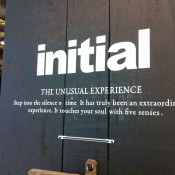 Sign at Hong Kong fashion brand Initial.