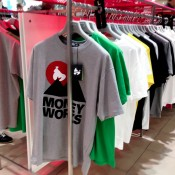T-shirt gallery at Harvey Nichols in London. Photo by alphacityguides.