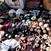 Vintage jewellry at Hell's Kitchen Market in New York. Photo by alphacityguides.