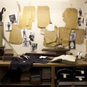 Tailors workshop at the Huntsman in London. Photo supplied by Huntsman.