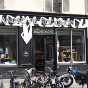 Store front at Landscape Rockshop in Paris. Photo by alphacityguides.