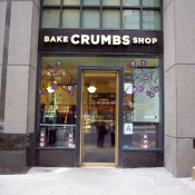 Store front at Crumbs Bake Shop in New York. Photo by alphacityguides.
