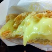 Inside a cream puff at Beard Papa in Hong Kong. Photo by alphacityguides.