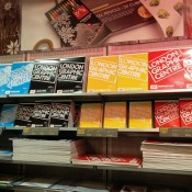 Display at London Graphic Design Centre in Covent Garden, London. Photo by alphacityguides.