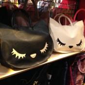 Cat bags at Wego Harajuku in Tokyo. Photo by alphacityguides.