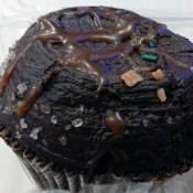 Chocolate cupcake at Crumbs Bakery in New York. Photo by alphacityguides.