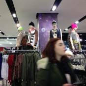 Street fashion display at Topshop in London. Photo by alphacityguides.