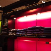 Cashmere sweaters at Shanghai Tang in Hong Kong. Photo by alphacityguides.