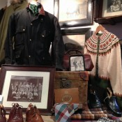 Men's fashion display at The Vintage Showroom in Covent Garden, London. Photo by alphacityguides.