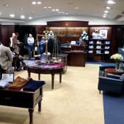 Menswear at Brooks Brothers in London. Photo by alphacityguides.