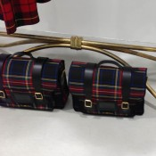 Plaid bag inside Dover Street Market in Tokyo. Photo by alphacityguides.
