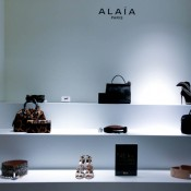 Alaïa accessory display at Harrods in London. Photo by alphacityguides.
