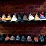 Men's shoe display at Shoegasm in New York. Photo by alphacityguides.