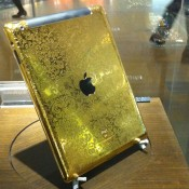 Gold iPad case at Pacific Place Hong Kong. Photo by alphacityguides.