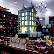 Preserves at Fortnum and Mason in London. Photo by alphacityguides.