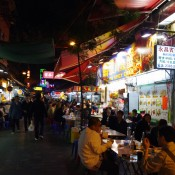 Food stalls at the Temple Street Market in Hong Kong. Photo by alphacityguides.