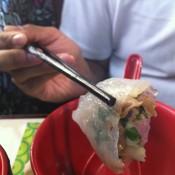 Crystal dumpling at Tim Ho Wan in Hong Kong. Photo by alphacityguides.