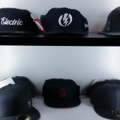 Hat display inside Volcom in London. Photo by alphacityguides.