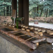 Okiome cleansing station at the Meiji Shrine in Tokyo. Photo by alphacityguides.