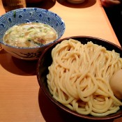 Cold noodles and broth at Rokurinsha in Tokyo. Photo by alphacityguide