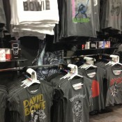 Rock and Roll T-shirts at B Famous in London. Photo by alphacityguides.