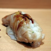Anago at Sushi Dai in Tokyo. Photo by alphacityguides.