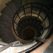Staircase inside Arc de Triomphe in Paris. Photo by alphacityguides.