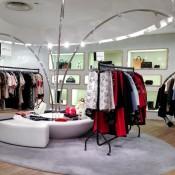 Marni fashion display at Harvey Nichols in London. Photo by alphacityguides.