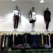 Wall fashion display at Barneys CO-OP in New York. Photo by alphacityguides.