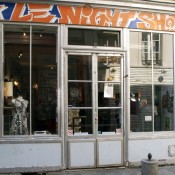 Store front at Le Night Shop in Paris. Photo by alphacityguides.