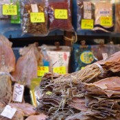 Dry food at Tsukiji Market in Tokyo. Photo by alphacityguides.