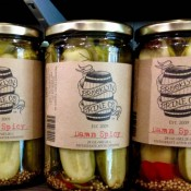 Pickels at Murray's Bagel in New York. Photo by alphacityguides.