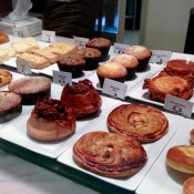 French pastry display at Bouchon Bakery in New York. Photo by alphacityguides.