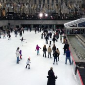 The ice skating rink at Rockefeller Center in New York. Photo by alphacityguides.