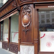 Store front at Hermès in Paris. Photo by alphacityguides.