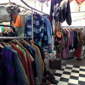 Huge Vintage Clothing Market at Brick Lane in London. Photo by alphacityguides.