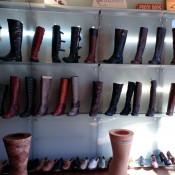 Boot and shoe display at Shoegasm in New York. Photo by alphacityguides.