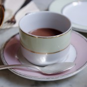 Ladurée hot chocolate in Paris. Photo by alphacityguides.