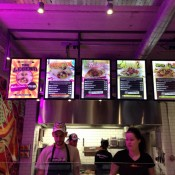 Menu board inside Chilango Burrito in London. Photo by alphacityguides.