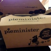 Take-out box packaging at Pieminister in London. Photo by alphacityguides.