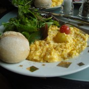 Scrambled eggs at Dalloyau in Paris