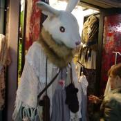 Japanese fashion display at Wonder Rocket Harajuku in Tokyo.