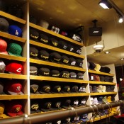 Hat display inside Onspotz in Tokyo. Photo by alphacityguides.
