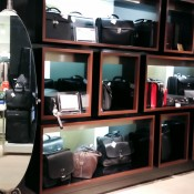 Luggage display at Harrods in London. Photo by alphacityguides.