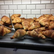 Breakfast croissants at The Albion in London. Photo by alphacityguides.